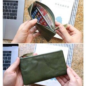 Image 2 - ผู้หญิงกระเป๋าสตางค์แฟชั่นหนังแท้ซิป Slim กระเป๋า Cowhide LADIES กระเป๋าสตางค์โทรศัพท์หญิงขนาดเล็กเหรียญเหรียญเงินกระเป๋า