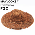 HOT Style summer large brim straw hat adult women girls fashion sun hat uv protect big bow summer beach hat HN09