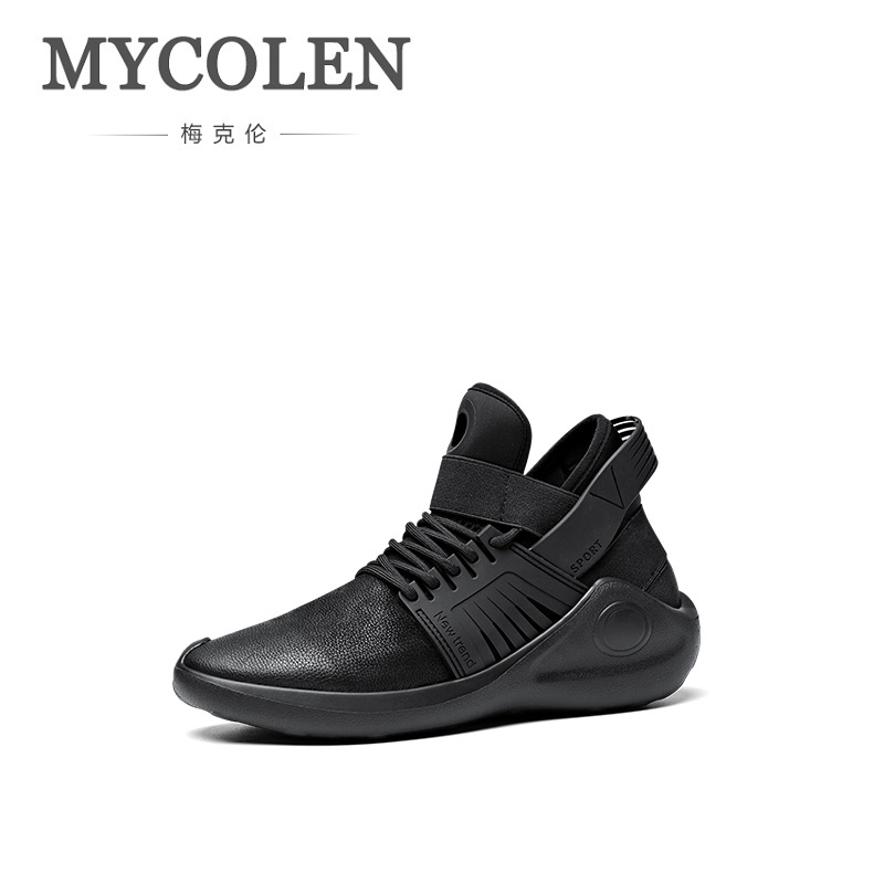 MYCOLEN 2018 New Fashion Men Shoes Casual Breathable Light Soft Black Mens Shoe Male Trainers Sneakers Chaussure Homme Sport недорого