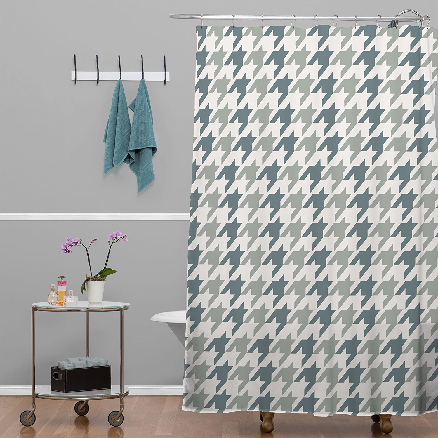 Brown And Grey Shower Curtain Stall CurtainsShower Curtains