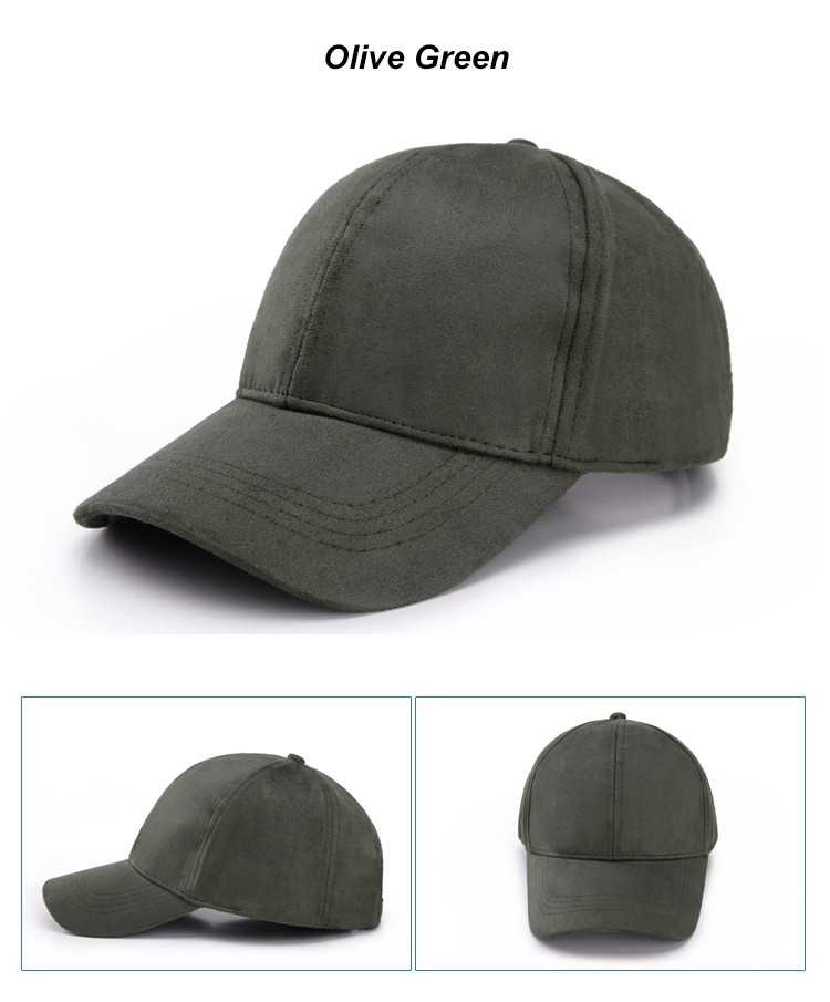 WEARZONE Unisex Soft Suede Baseball Cap Casual Solid Sports Hat Adjustable Breathable Dad Hats for Women Men 18