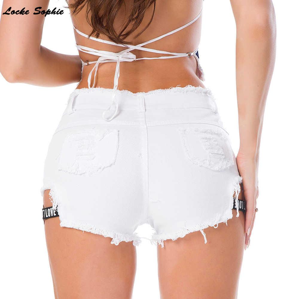 Hoge Taille Shorts Sexy Vrouwen Jeans Denim Shorts Zomer Gebroken Gat Dames Skinny Denim Katoen Super Korte Jeans Meisjes