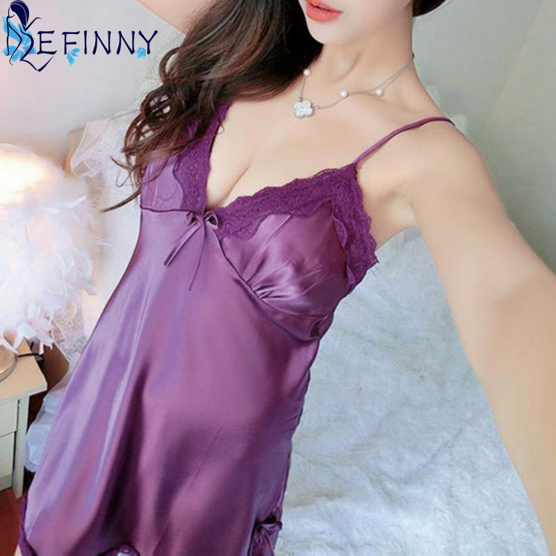 Women Silk Lace Nightgowns 3