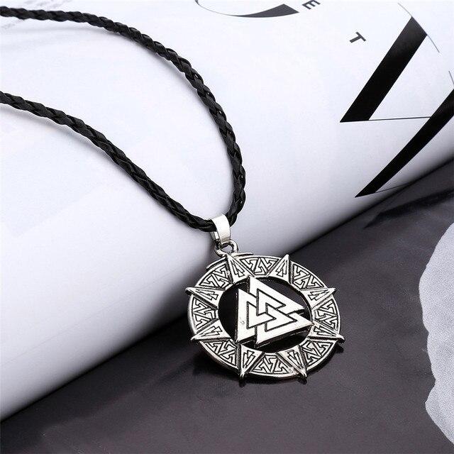 Necklaces Slavic Norway Valknut Pagoda Amulet Pendant Men Necklace Jewelry Scandinavian Viking Odin Is Symbol Of The May3117