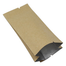 Kraft Paper Aluminum Foil Open Top Heat Seal Bags Brown Nut Tea Dried Food Coffee Packing Mylar / Paper  Side Guesst Bags Retail