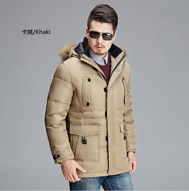 2017 High quality new style men winter thicken long Down jacket Warm coat 100% Down jacket with Real fur factory sales
