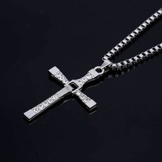 Fast and Furious VIN Diesel Polished  Necklace Cross Pendant