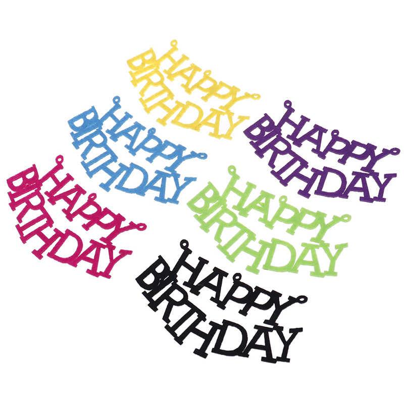 Joyeux anniversaire 12cm lettres noires motif feutre bannière fête d'anniversaire décor banderoles bannière fête guirlande bannière 5 pièces/ensemble