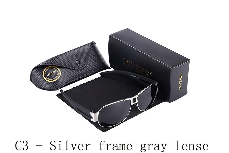 C3 - Silver frame gray lense