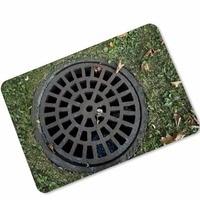 MDCT Sewer Manhole Cover Pattern Area Rugs 3D Bath Floor Mats Hallway Kitchen Entrance Welcome Door Mat Carpet 40x60cm 45x70cm