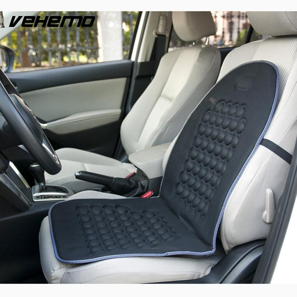 Vehemo 2016 Newest Multifunction Magnetic Car Bubble Seat Cushion Massage Therapy Home Office Black Pad Universal