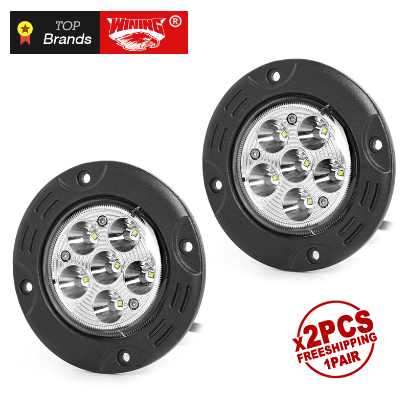 Us 35 95 Freeshipping Pair 18w Led Work Light 4 8 Inch Flush Mount Spot Beam Workligts Round Offroad Led Truck Work Lights For Truck In Light