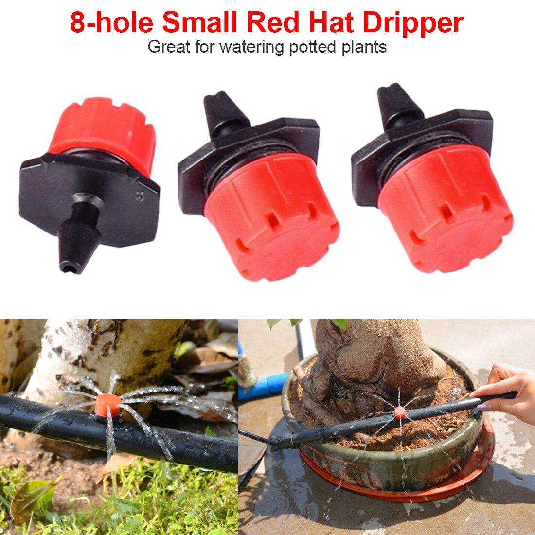 100 pcs/set Einstellbare Wasser Tropf Kopf Sprinkler Garten Bewässerung Mikro-durchflusstropftropfer Bewässerung Sprinkler