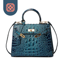 2016 Vintage Top Handle Brand Designer women leather handbags High Quality alligator Shoulder Bag Luxury Ladies Messenger Bag
