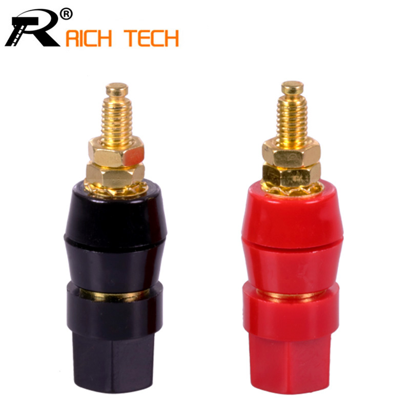 1pair(black+red) Terminals Red Black Connector Amplifier Terminal Binding Post Banana Speaker Plug Jack 2pcs high quality banana plug binding post terminal connector red black couple terminals speaker amplifier wire connectors