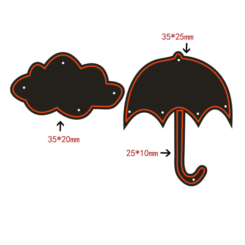 Umbrella Cloud Metal Cutting Dies Stencil for DIY Scrapbooking Photo Album Paper Card Decor Craft Diecuts New Die Cut in Cutting Dies from Home Garden