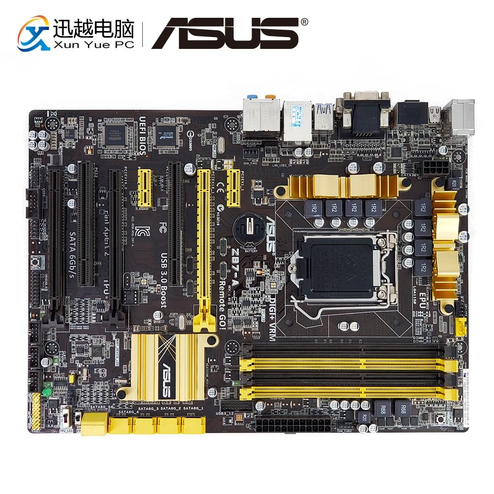 все цены на Asus Z87-A Desktop Motherboard Z87 Socket LGA 1150 i7 i5 i3 DDR3 32G SATA3 USB3.0 VGA DVI HDMI DP ATX онлайн