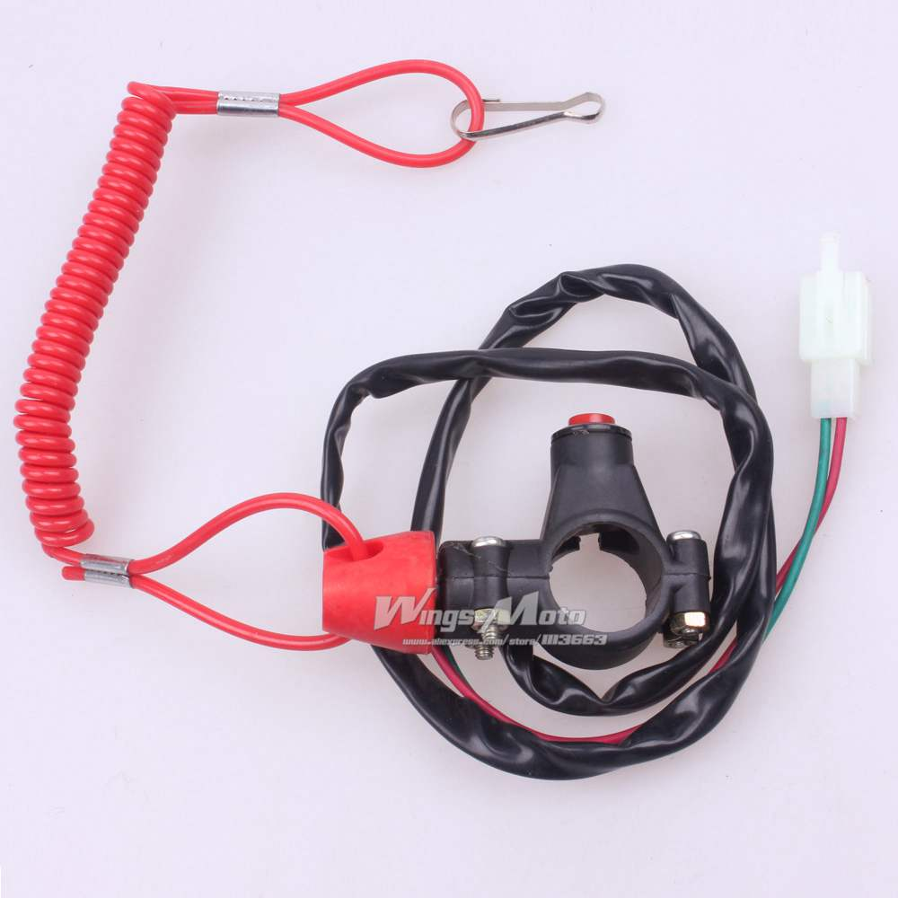 10pcs Wholesale DOUBLE font b KILL b font font b SWITCH b font SAFETY WIRE WITH popular scooter kill switch buy cheap scooter kill switch lots,Scooter Kill Switch Wiring