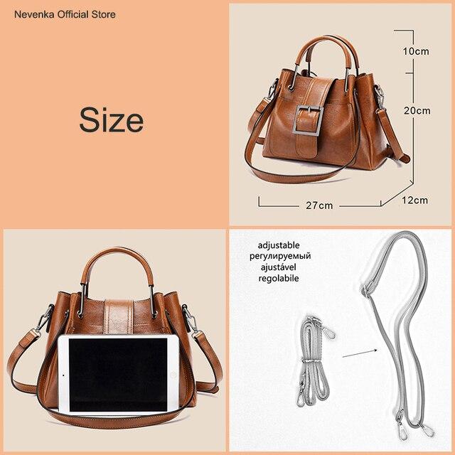 Nevenka Luxury Handbags Women Bags Designer Shoulder Bags Female Vintage Crossbody Bag Ladies Purses and Handbags