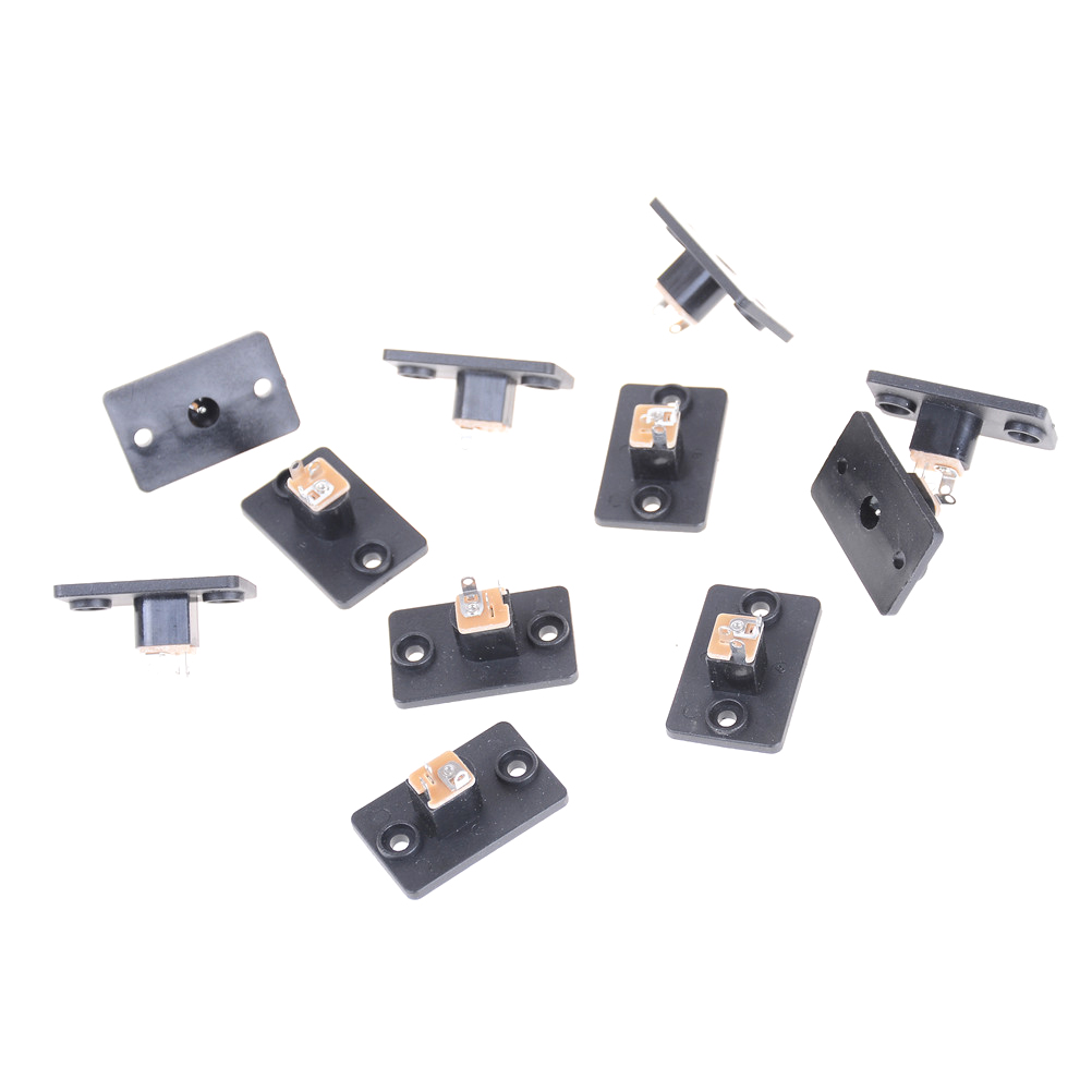 10PCS Black Female Socket Panel For Barrel Jack <font><b>Plug</b></font> <font><b>DC</b></font> 12V Power Connector <font><b>5.5</b></font> X2.1mm <font><b>Plug</b></font> image