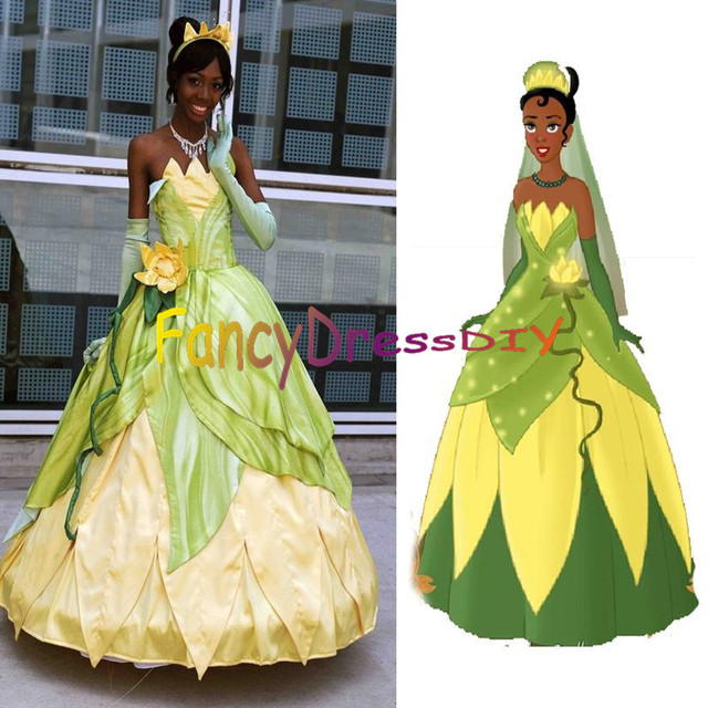 Princess Tiana Dress: 2015 Custom Made Princess Tiana Dress And The Frog Costume