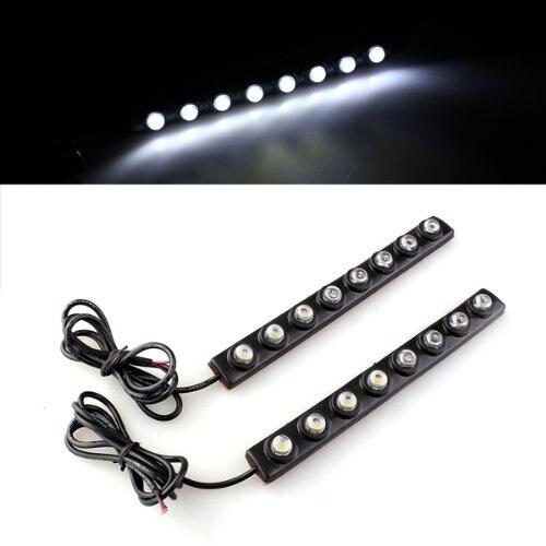10х) 2 x 2 Вт SMD 5050 Белый 8 светодиодные дневные ходовые свет лампы ДРЛ туман автомобиля грузовика вождения