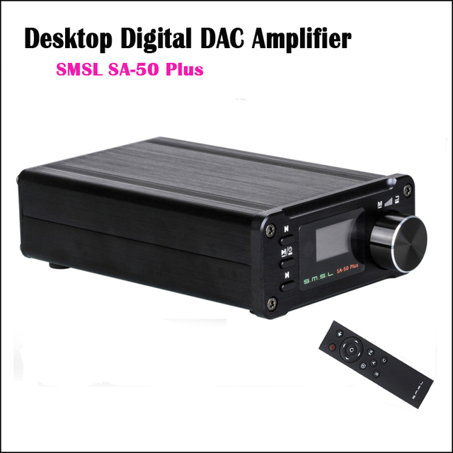 SMSL SA-50 Plus Hifi Eindversterker Audio Digitale Versterker 2.0 DAC TAS5766M Versterkers Thuis 50 W Amplificador Optische Amp