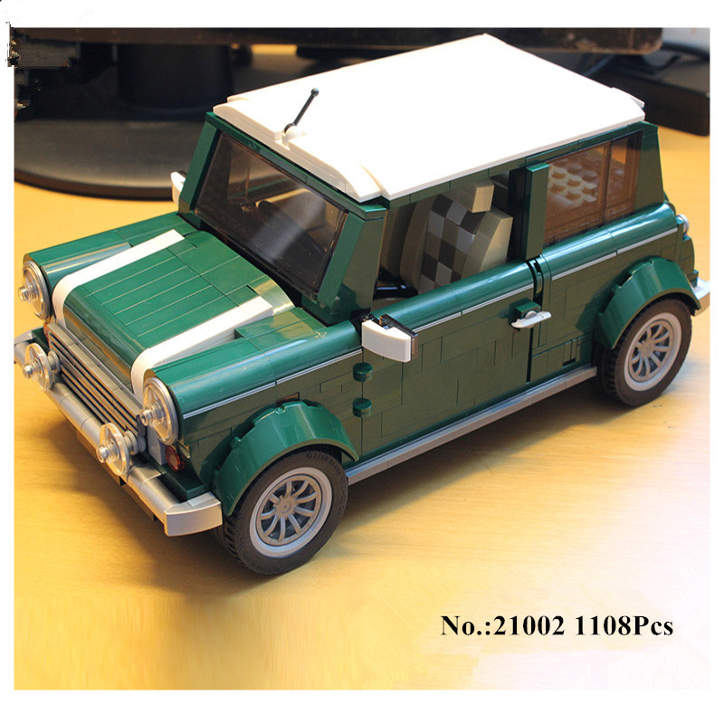 H&HXY Free shipping 21002  1108 pcs MINI Cooper LEPIN Model Building Kits  Blocks Bricks Toys Compatible With10242 free shipping lepin 2791pcs 16002 pirate ship metal beard s sea cow model building kits blocks bricks toys compatible with 70810