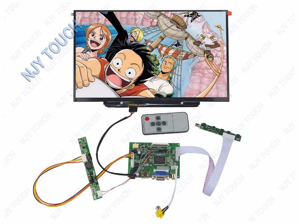 HDMI VGA AV Remote LCD Controller Board kit Plus 13.3inch LTN133AT09 1280x800 Panel 6 2 tft hsd062idw1 800x480 lcd screen with touch panel usb kit plus vga av lcd controller board kit