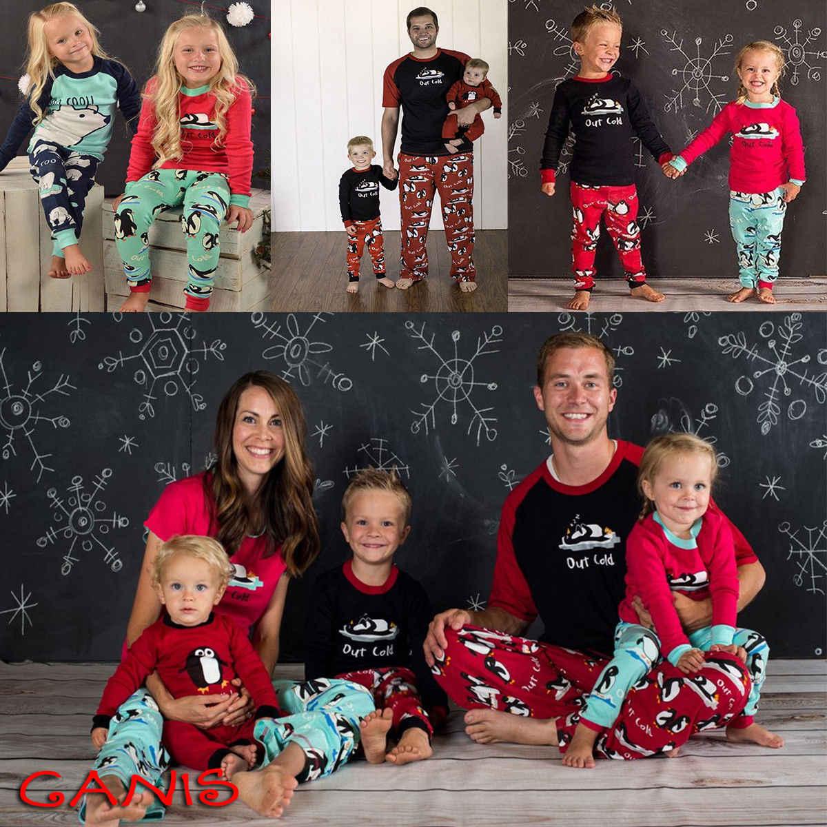 New Family Matching Women Kids Christmas Pyjamas Xmas Nightwear Pajamas PJs  Sets Cute Penguin Outfits 213252480