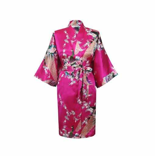 Акция красная женская шелковая ночная рубашка Новинка; для летнего отдыха; спальный костюм; Новинка костюм, накидка, Восточный халат, халат с принтом Размеры S M L XL XXL XXXL