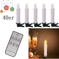Candles Home Decoration Flameless 40Pcs Candels Led Light Flame Wedding Decor Led Warm White Lamp Home Decoration Accessories