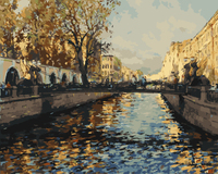 Europe Landscape Frameless Picture DIY Oil Painting By Numbers DIY Digital Canvas Oil Painting Home Decoration