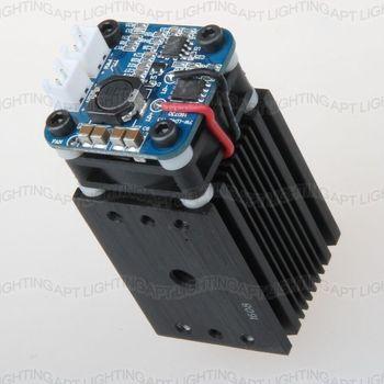 sahne aydinlatma 2500mw/2.5W 450nm Focusable Adjust blue Module diode laser carve Engraving TTL PWM contr DIY CNC Free glasses