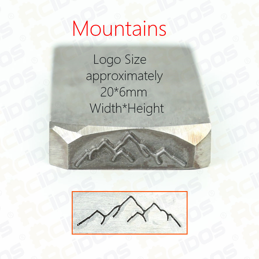 Customized Mountains design stamp 6x20mm,DIY Bracelet/jewelry symbols steel stamp,HRC58 60 degree-in Tools from Home & Garden    3