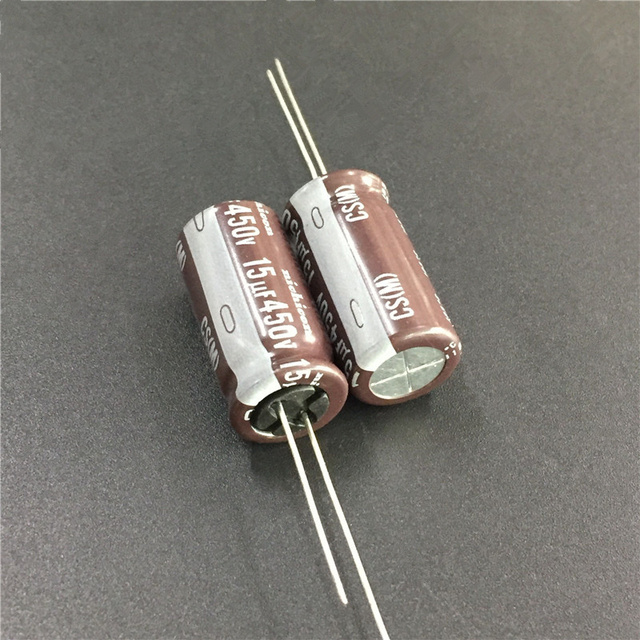 US $2 99 |10pcs 15uF 450V NICHICON CS Series 12 5x25mm High Ripple Current  High Reliability 450V15uF Aluminum Electrolytic capacitor-in Capacitors