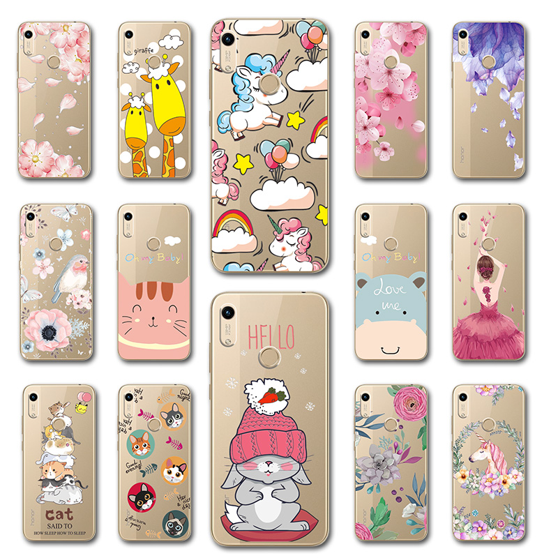 Cute Dog <font><b>Case</b></font> Fundas For <font><b>Huawei</b></font> <font><b>Huawei</b></font> Y6 <font><b>Y7</b></font> <font><b>2019</b></font> Beautiful Flowers 3D Relief Lace Capa For <font><b>Huawei</b></font> Honor 8A Phone Shell Honor8A image