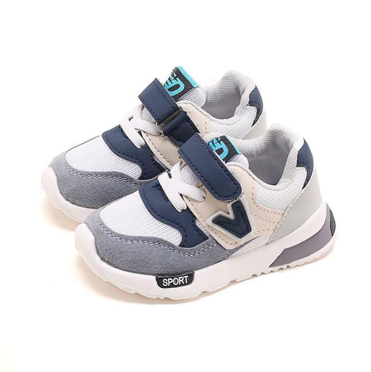 New Kids Shoes for Baby Boys Girls Children's Casual Sneakers Mesh Breathable Soft Running Sports Shoes Pink Gray Sneakers     - title=