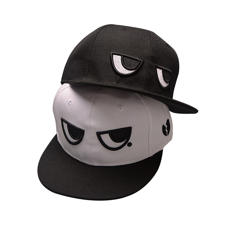 2017 Fashion Brand Snapback Caps Adjustable Baseball Cap Black White Bone Eyes Snapback Hip Hop Hat Couple Hats For Men Women hat 2016 men women strapback snapback baseball cap adjustable hat black white pink color one size