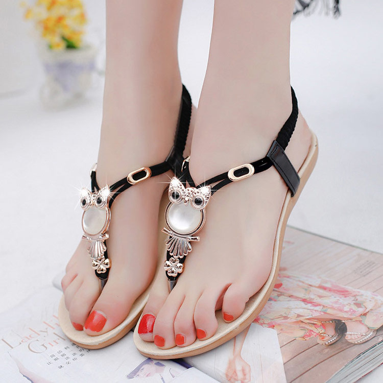 6b5bfd3fac9e1 Women shoes 2018 hot fashion women sandals elastic t strap bohemia ...