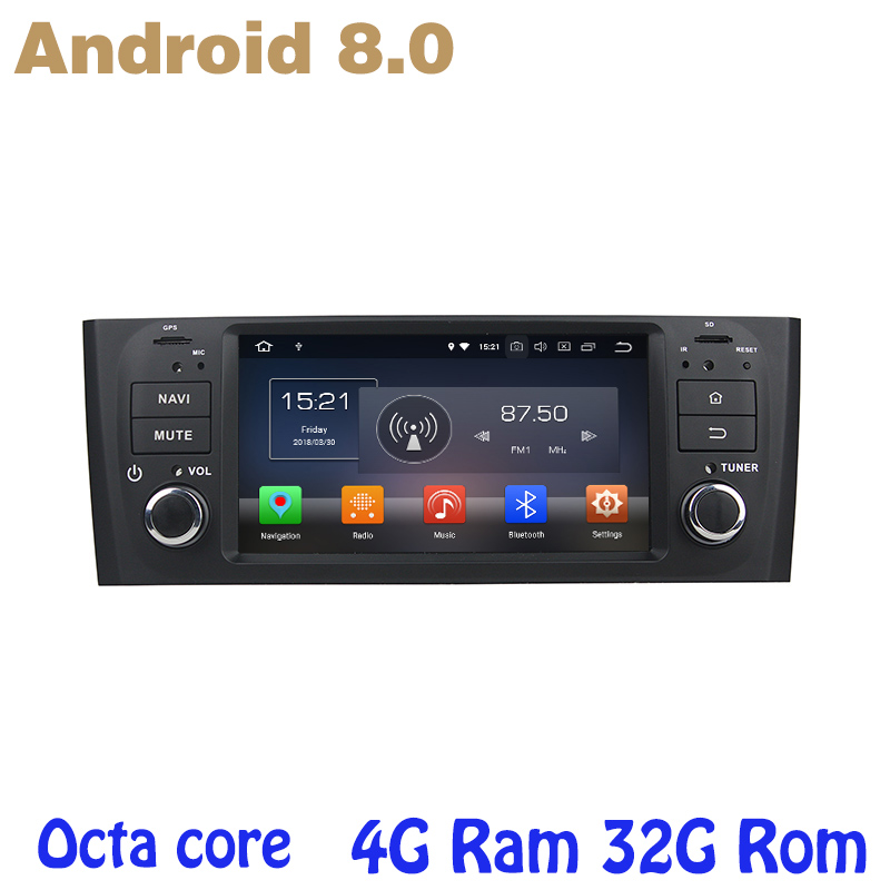 Android 8.0 Octa core PX5 car radio gps player for Fiat Grande Punto Linea 2006-2012 with 4G RAM 32G ROM wifi 4g usb все цены