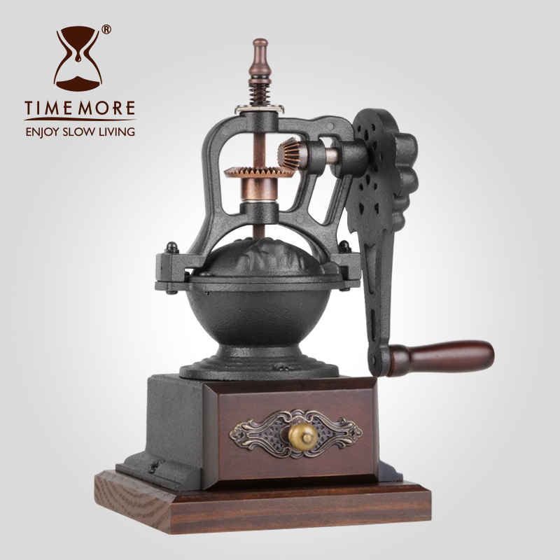 Thai Mount Casting Blacksmith Hand Coffee Beans Grinder Retro Effort Household Grinding Apparatus Manual Coffee Machine l beans household coffee beans grinder manual coffee machine adjustable thickness hand grinder