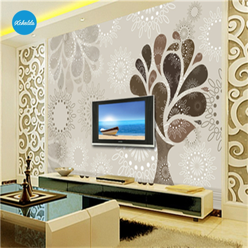 XCHELDA Custom Modern Luxury Photo Wall Mural 3D Wallpaper Papel De Parede  Living Room Tv Backdrop Wall Paper Of Modern Flower custom children wallpaper multicolored crayons 3d cartoon mural for living room bedroom hotel backdrop vinyl papel de parede