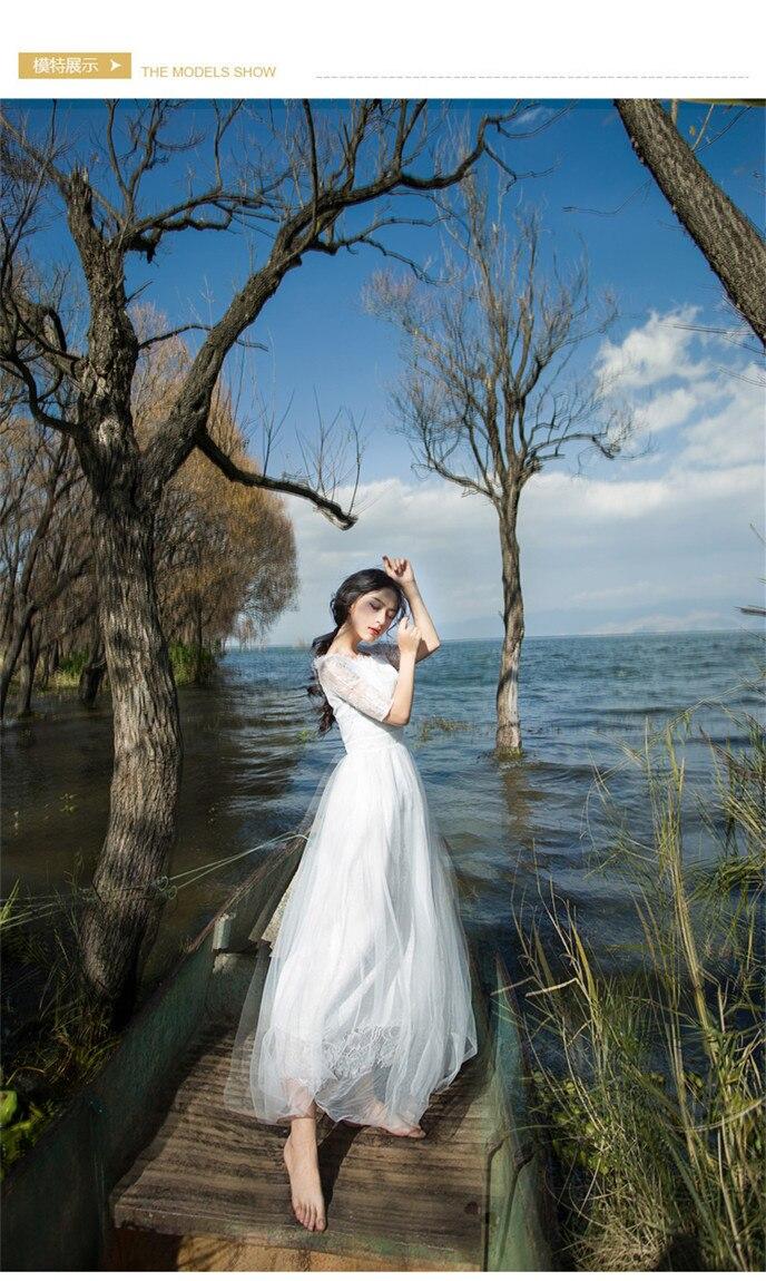 100%real white/lavender lace embroidery long dress gown Medieval dress queen Renaissance Gown vintage Victoria dress Bellel