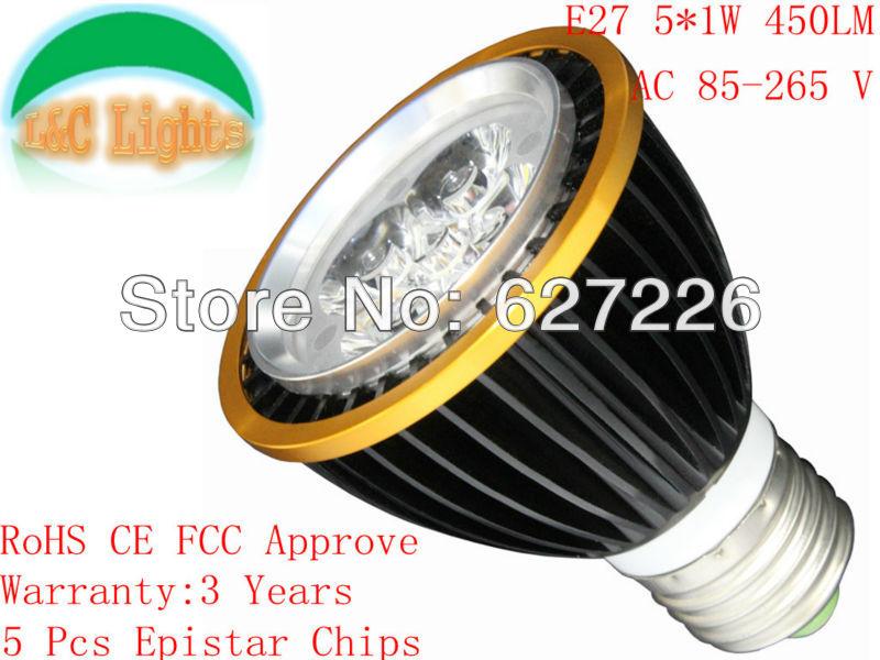E27 5W LED-es spotlámpák AC85-265V PAR20 izzók 500LM Ultra fényerő-visszajelző lámpák Fényforrás nagy teljesítményű LED beltéri világító lámpák