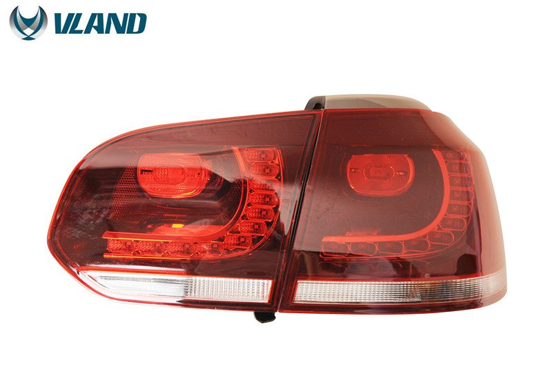 Free Shipping Vland Factory for Golf 6 Taillight 2008 2009 2010 2012 2013 Led Taillight R20 MK6 Rear Light Plug and Play Design free shipping vland factory car parts for camry led taillight 2006 2007 2008 2011 plug and play car led taill lights
