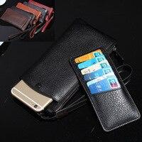 2in1 Wristband Zipper Genuine Leather Case For ZTE Nubia AXON 7 Z11 MiniS Max Blade X9