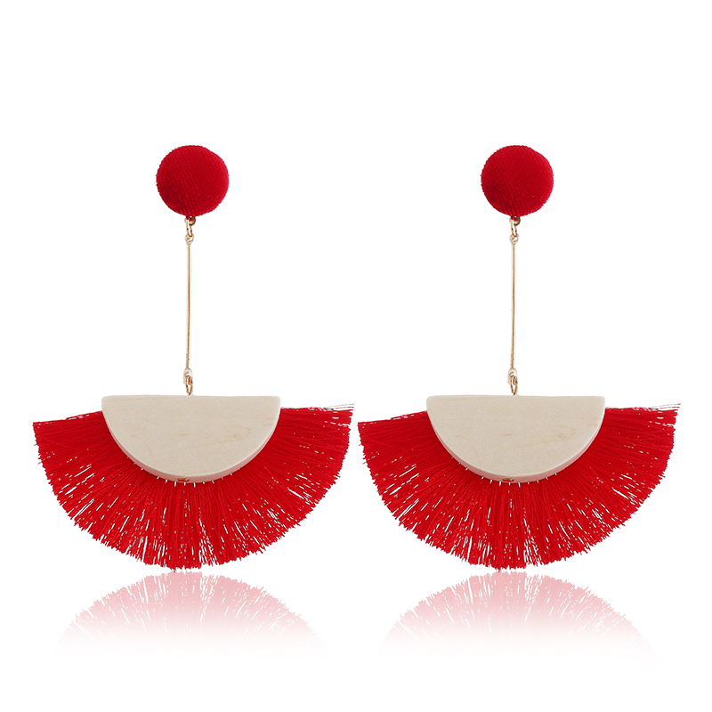 WNGMNGL Brand Fashion 6 Colors Long Drop Tassel Earrings for Women 2018 New Arrival Female Fringed Statement Jewelry Gift in Drop Earrings from Jewelry Accessories
