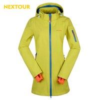 NEXTOUR Outdoor Winter Women Softshell Medium Jacket Waterproof With Fleece Thermal Antistatic Climbing Hiking J2061