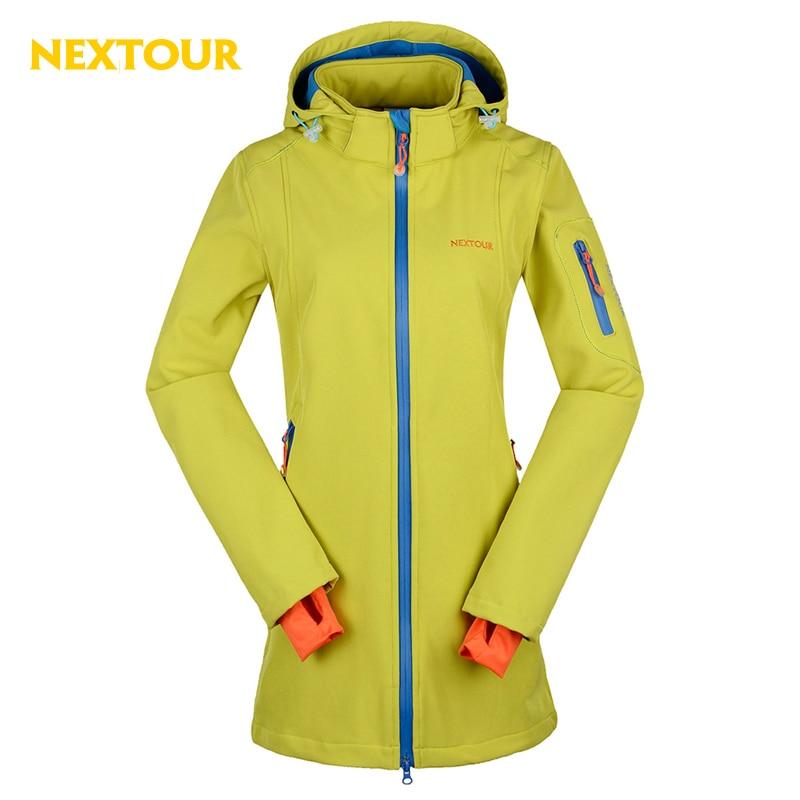 NEXTOUR outdoor Jacket Winter Women Softshell Medium Jacket Waterproof with fleece windbreaker trekking font b ski